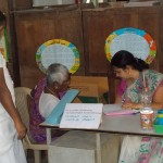 Gynaecologist Dr.Sunitha Examining a Patient at the Camp